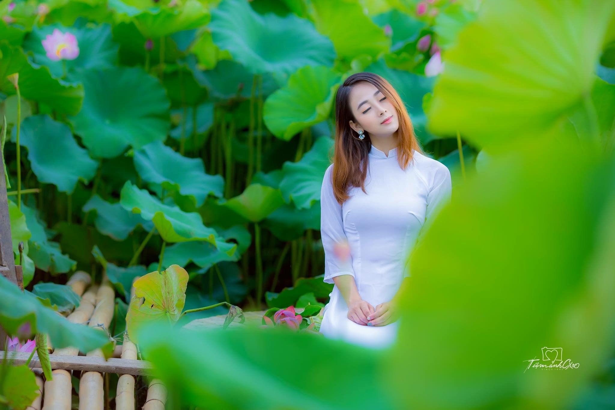 Tuyển tập girl xinh gái đẹp Việt Nam mặc áo dài đẹp mê hồn #60 - 9