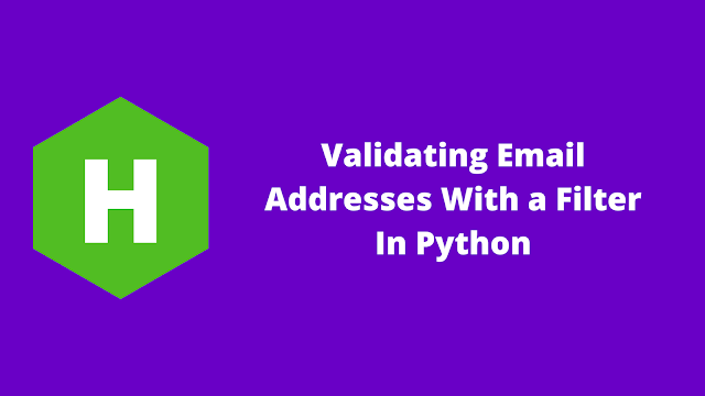 HackerRank Validating Email Addresses With a Filter in python problem solution