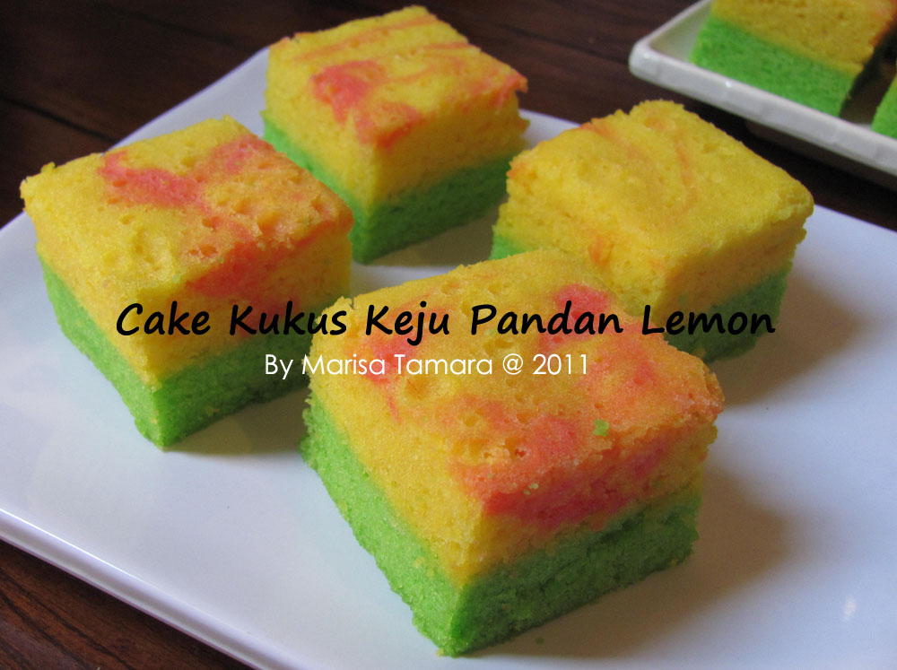 Resep Cake Kukus Keju: Welcome To Marisa's Kitchen: Cake Kukus Pandan Keju Lemon