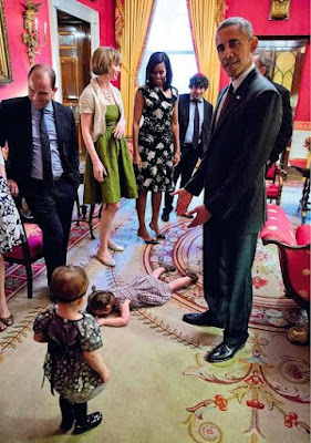 """The beauty of kids is they don't care who you are"" writes woman whose little daughter threw a tantrum at the White House"