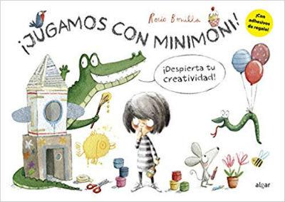 libro actividades Jugamos con minimoni, creatividad, motricidad fina y trazo