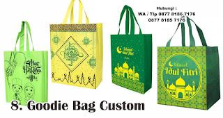 Goodie Bag Custom merupakan salah satu rekomendasi souvenir spesial idul fitri yang unik dan menarik