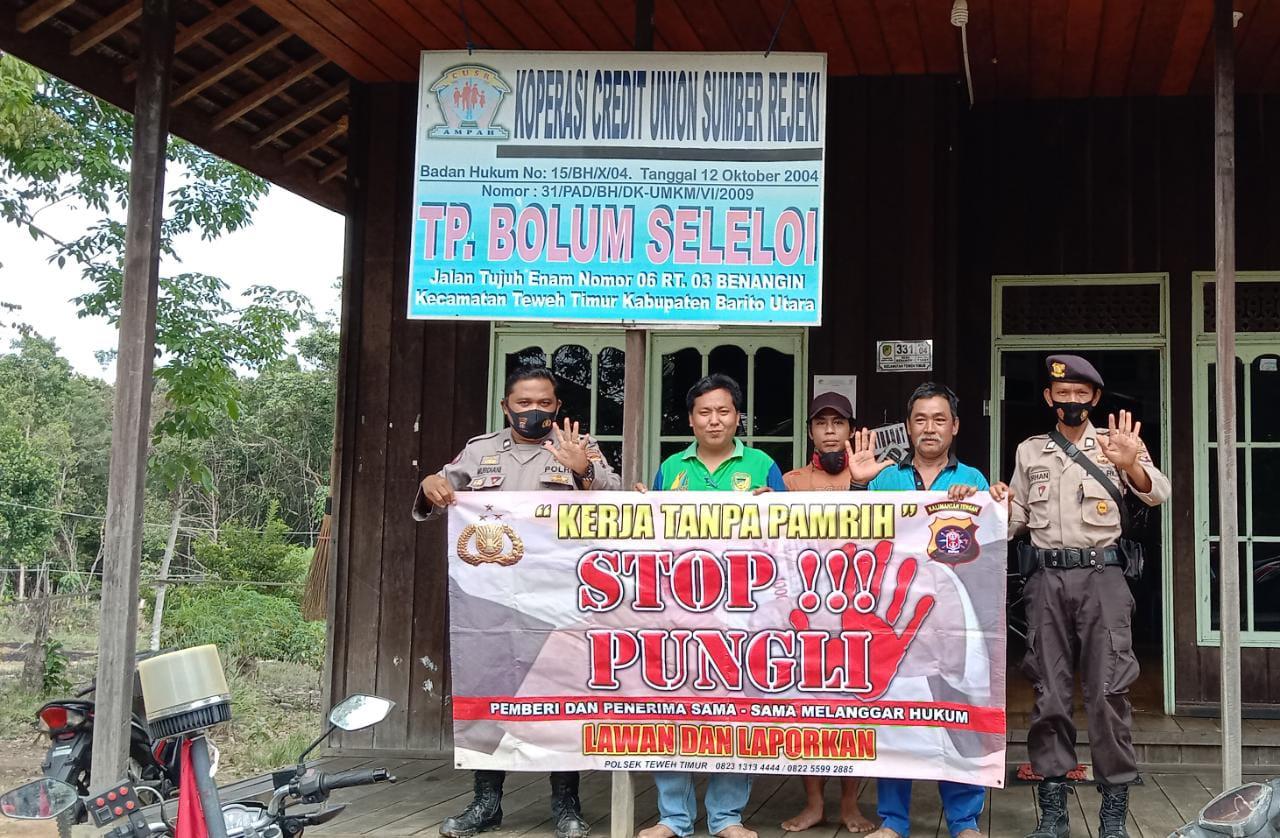 Cegah Pungli, Ini yang Dilakukan oleh Anggota Polsek Teweh Timur