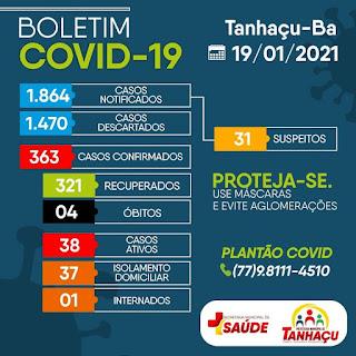 Tanhaçu registra 4º óbito por complicações da Covid-19