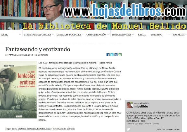Hojasdelibros.com de Manuel Bellido | Fantaseando y erotizando