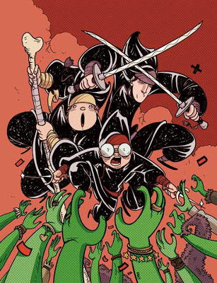 "Cover art per ""Suore Ninja: Zombie Gay in Vaticano"""