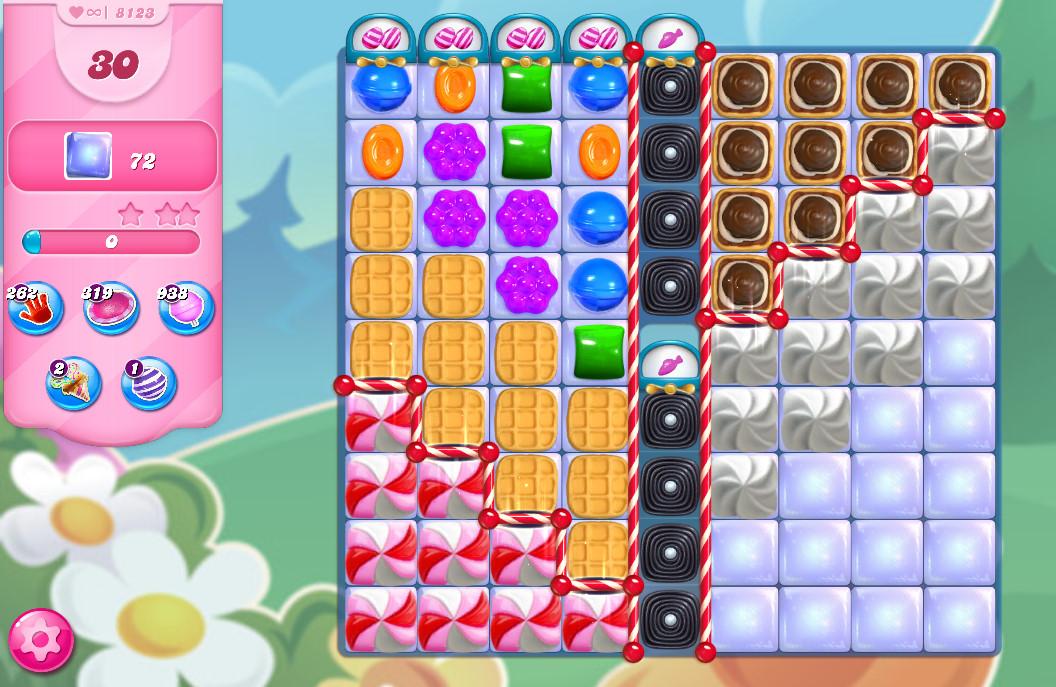 Candy Crush Saga level 8123