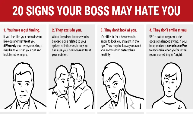 20 Signs Your Boss May Hates You #infographic
