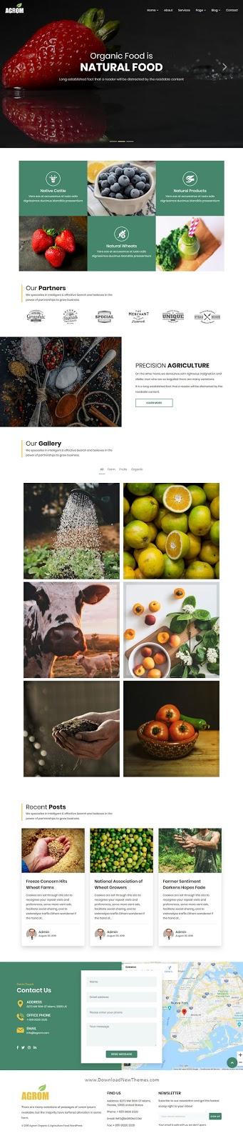 Organic & Agriculture Food WordPress Theme