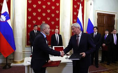 Russian-Slovenian documents signed in Kremlin.