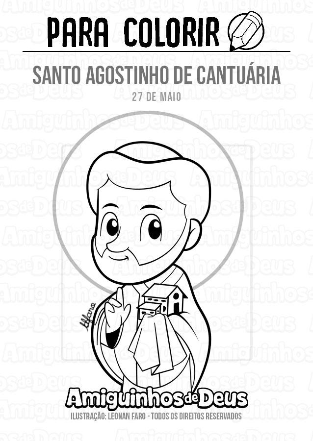 Santo Agostinho de Cantuária desenho para colorir