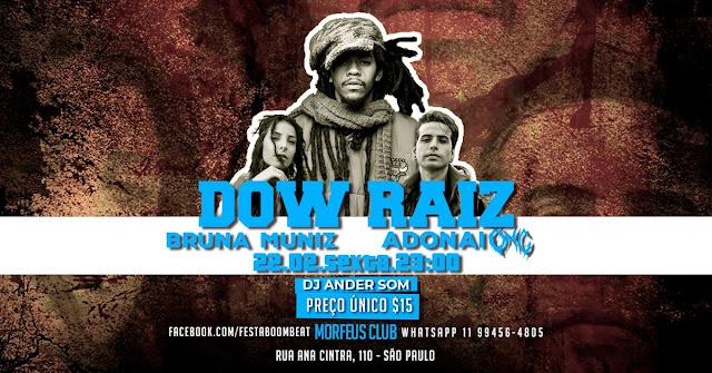 Segunda edição da Boombeat em 2019, traz Dow Raiz, Bruna Muniz e Adonai.