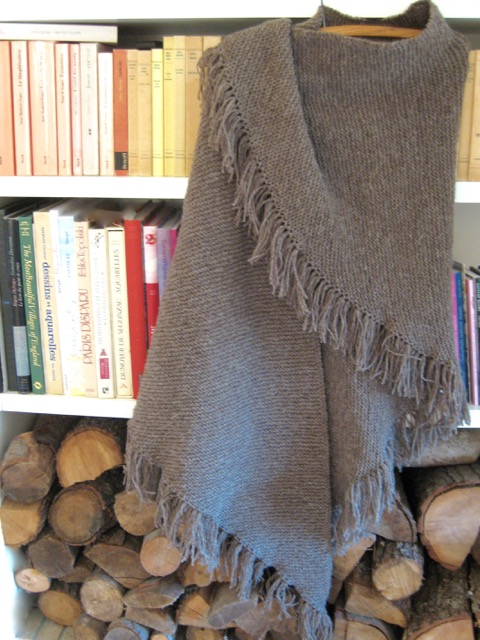 Country knitted shawl