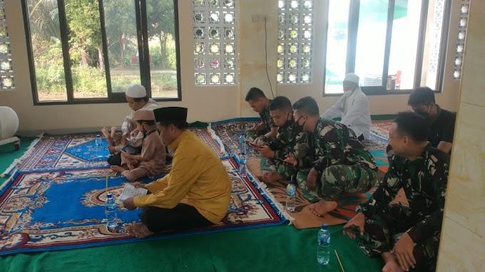 Jalin Silaturahmi, Satgas TMMD di Bedahan Ikuti Peringatan Maulid Nabi