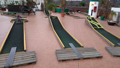 Mini Golf course in Puerto Colón, Tenerife by Philip Walsh