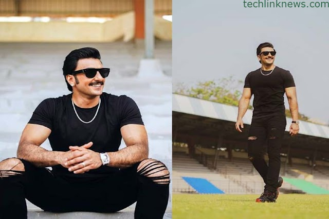 Ranveer Singh in super black pose on the Cricket field