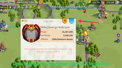 cara kirim koordinat rise of kingdoms