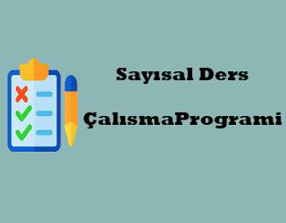 Sayısal Ders Programı