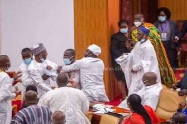 Ghanaian lawmakers exchange blows over who takes the majority side