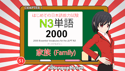 N3 Vocabulary Kazoku (Family)
