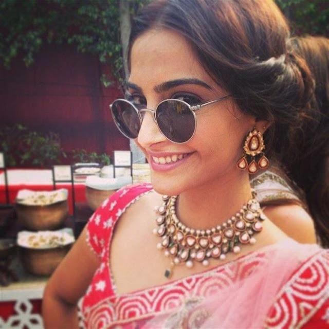 Sonam Kapoor Heavy polki Diamond Earrings