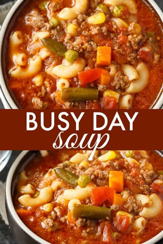 Busy Day Soup #recipes #thingstocookforsupper #food #foodporn #healthy #yummy #instafood #foodie #delicious #dinner #breakfast #dessert #yum #lunch #vegan #cake #eatclean #homemade #diet #healthyfood #cleaneating #foodstagram