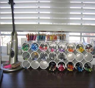 Ideas con tubos de PVC - porta lapices