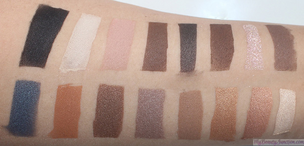 Too Faced Semi-Sweet Chocolate Bar eye palette swatches vs original