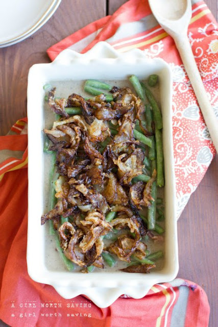 The Best Green Bean Casserole from A Girl Worth Saving