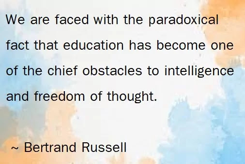 Bertrand Russell education Quotes