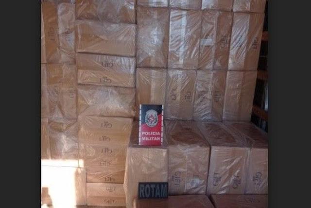 Carga de cigarros contrabandeados avaliada em R$ 2 milhões é apreendida em São José do Bomfim no Sertão