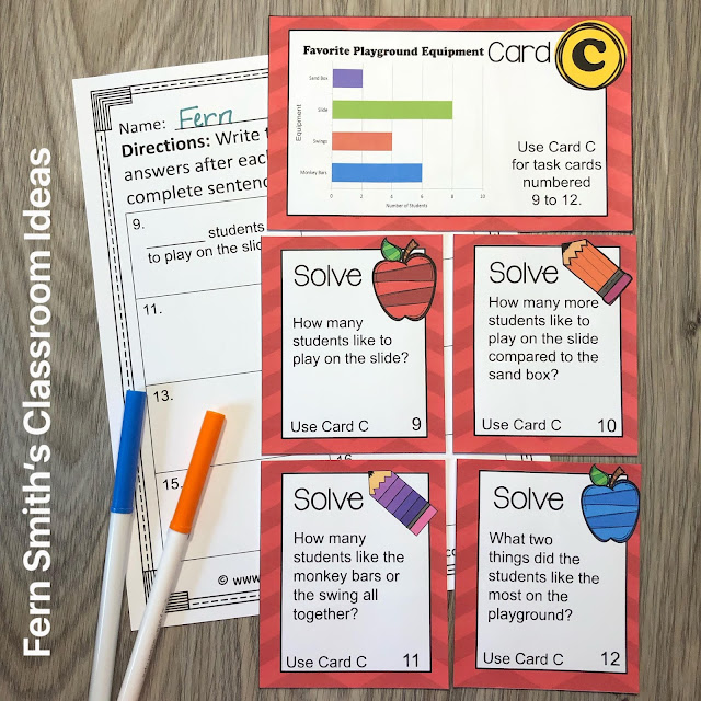 Click Here to Grab These 3rd Grade Math Use Bar Graphs Task Cards For Your Third Grade Class Today!