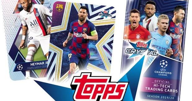 TOPPS CRYSTAL CHAMPIONS LEAGUE 2020-3 LIMITED EDITION MBAPPE, VAN DIJK, EDEN