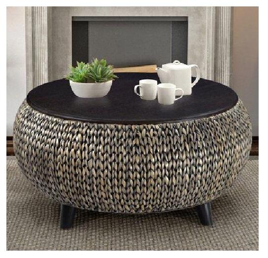 floor pouf Straw pouf Pouf ottoman coffe table bean bag lounge sofa with brown style modern design