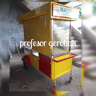 model gerobak kebab unik