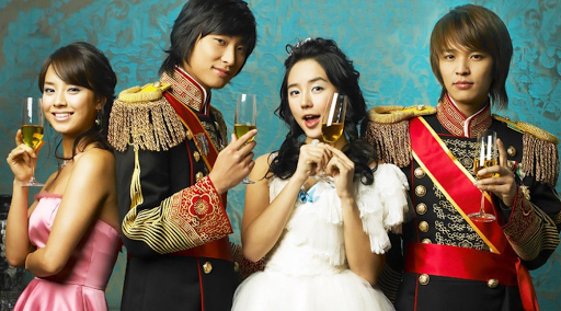 The Princess Hours Koread Drama Cast - Yoon Eun-hye, Ju Ji-hoon, Song Ji-hyo and Kim Jeong-hoon