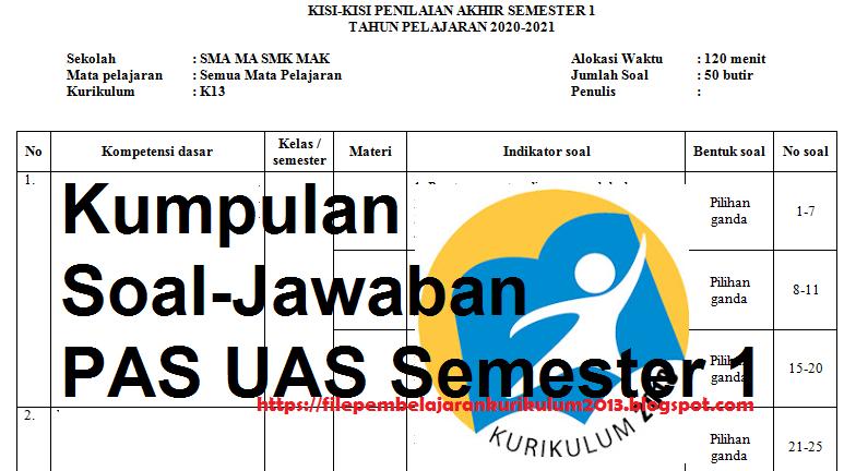 Kisi-kisi PAS Bahasa Indonesia Kelas 10 Semester 1 ...