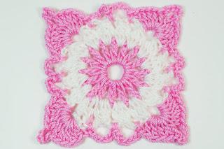 Majovel Crochet cuadro cobijas crochet o ganchillo rosa y blanco tutorial fácil sencillo rápido