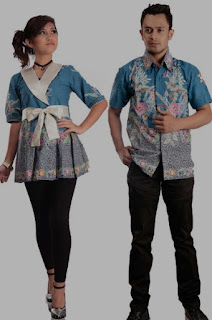 Model baju batik couple elegan