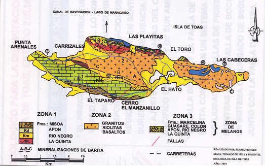Mapa Geológico de Isla de Toas