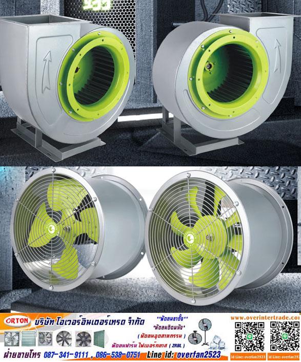 พัดลมหอยโข่ง (Centrifugal Fan)