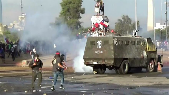 Protestas antigubernamentales continúan intensamente en Chile