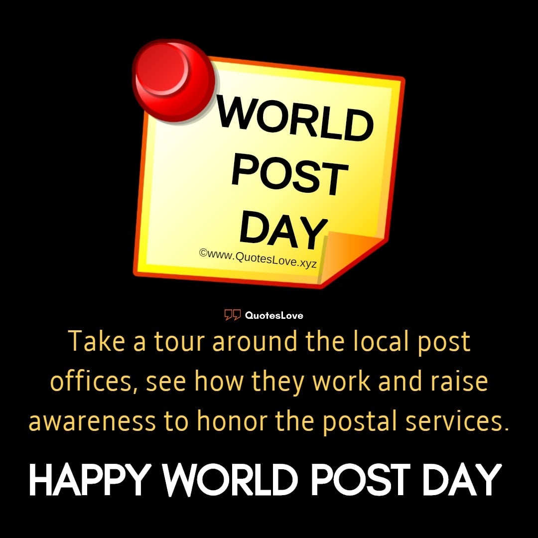 World Post Day Quotes, Slogans, Wishes, Images, Poster, Pictures, Photos