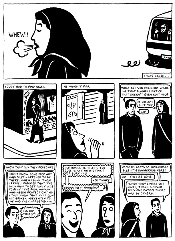 Read Chapter 14 - The Makeup, page 133, from Marjane Satrapi's Persepolis 2 - The Story of a Return