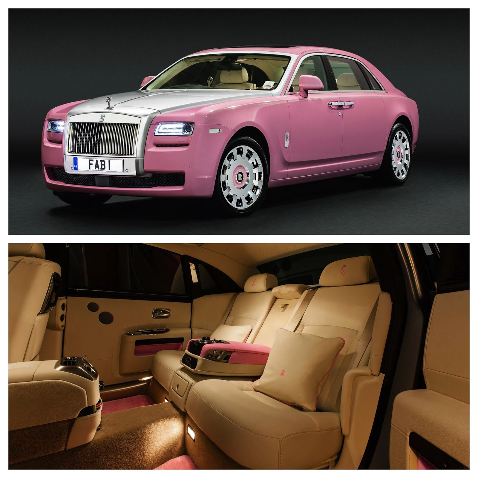 Pink Rolls Royce Ghost for FAB1 Million Project