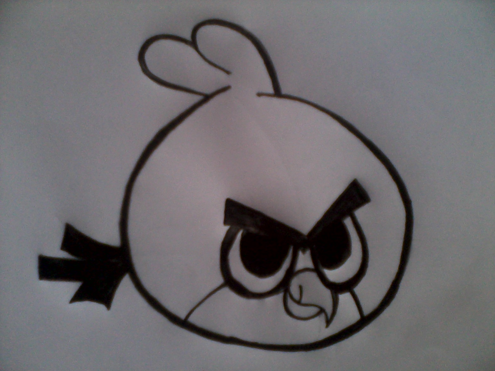 Art of sketches how to draw angry bird in 5 simple steps