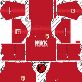 FC Augsburg Kits 2019/20 -  Dream League Soccer Kits