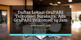 Daftar Lokasi GraPARI Telkomsel Surabaya