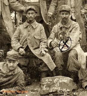 Louis Moignau, soldat à la 25e compagnie  du 9e Régiment du Génie