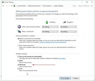 Cara Memunculkan Hibernate di Windows 10